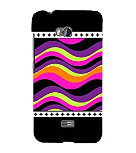 Wave Pattern Cute Fashion 3D Hard Polycarbonate Designer Back Case Cover for Micromax Bolt Q336