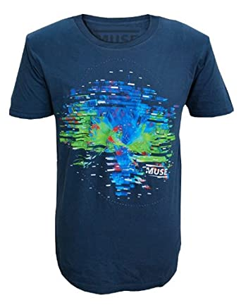 Muse - Männer Connectome Explodiert T-Shirt (Denim Blue) X Large