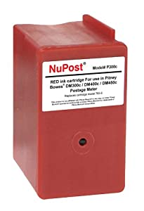 NuPost NPT300C Compatible Red Ink Cartridge Replacement for Pitney Bowes Postage Meter 765-9 (Red)