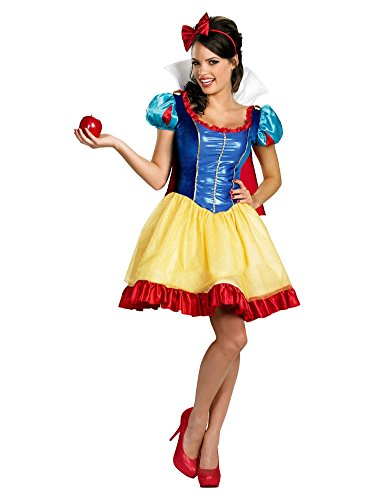 Disney Princess Womens Sassy Snow White Costume with Dress & Headband