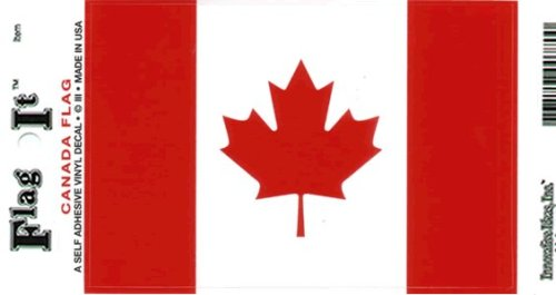 Canada Flag 6 Self Adhesive Vinyl Decals