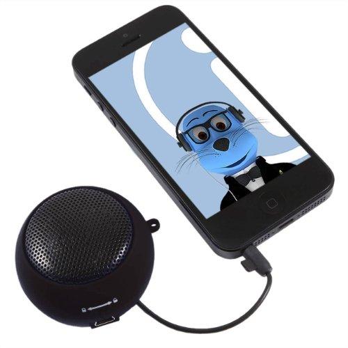 Italkonline Black Rechargeable 3.5Mm Capsule Speaker For Apple Ipod Nano 7 (7Th Generation)