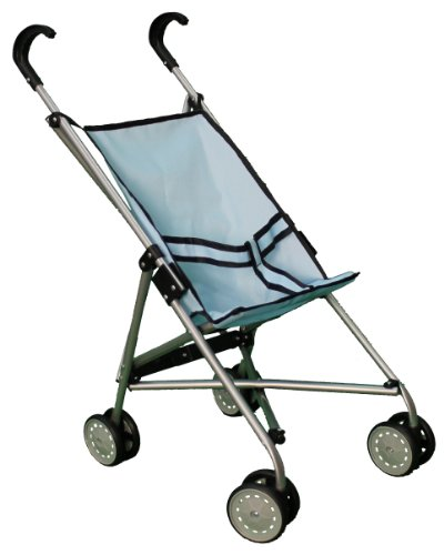 Blue Umbrella Doll Stroller With Swiveling Wheels - 9302B front-111269