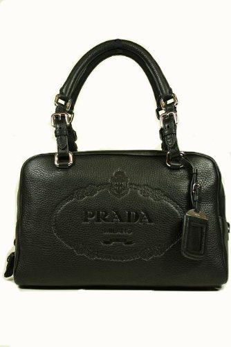 Prada Handbags Black Leather BR3091