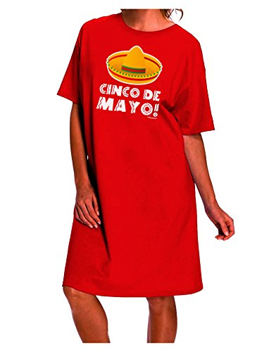 TooLoud Sombrero Design - Cinco de Mayo Dark Adult Night Shirt Dress