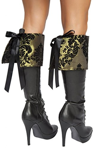 Sexy Green Mad Hatter Boot Cuffs Halloween Accessory
