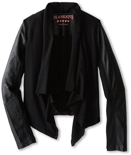 Blank NYC Kids Girl's Drape Jacket w/ Vegan Leather Sleeves (Big Kids) Private Practice XL (Big Kids)