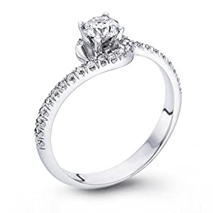 Diamond Engagement Ring 1/2 ct, G Color, VS1 Clarity, Certified, Round Cut, in 14K Gold / White