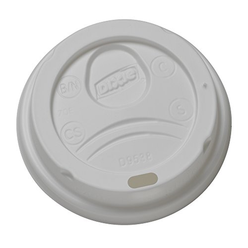 Dixie D9538 Dome Lid for 8 oz PerfecTouch and Paper Hot Cups, White (10 Packs of 100) (Number 10 Can Lids compare prices)