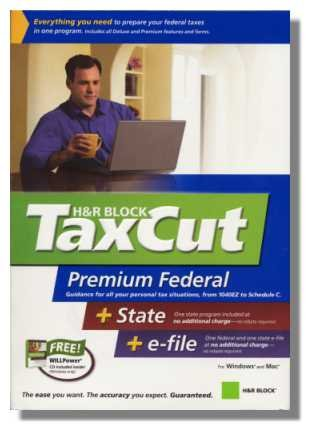 2006 TaxCut Premium Federal + State + eFile H&R Block Tax Cut