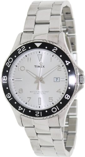 Timex Men's T2P027KW Ameritus Sport White Sunray Dial, Stainless Steel Bracelet Watch