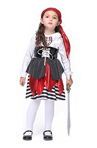 Lover-baby® Girls Petite Pirate Toddler Halloween Costume