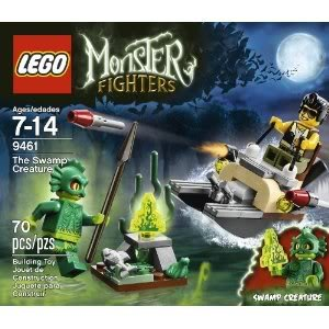 Toy / Game Fantastic LEGO Monster Fighters 9461 The Swamp Creature - Swamp Boat With Green Moonstone And Fish