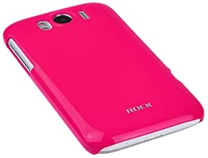 Rock Naked Colorful Mobile Backcase UV with Screen Protector for HTC Sensation XL (Rose Red)