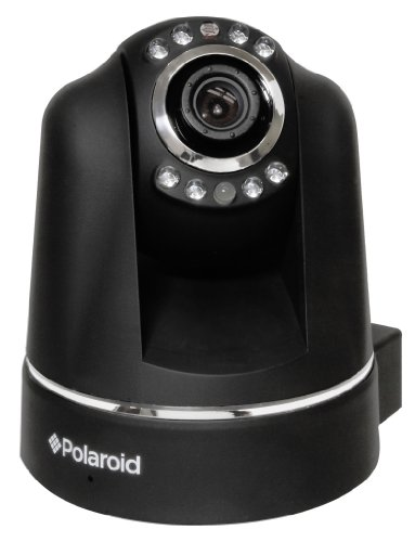 Polaroid IP200B wireless IP Network Security Camera, Pan and Tilt, Black - 9 Pack
