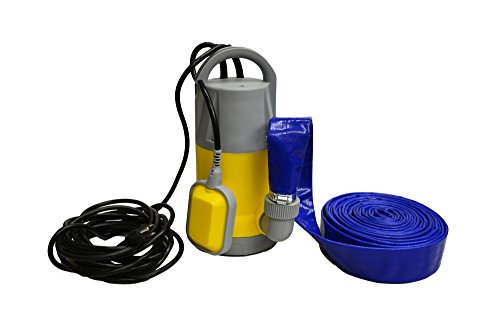 Hot Tub and Swimming Pool Drain Pump with Hose Pond/Flood Pump (Up To 3,700 GPH) (Pool Drainage Hose compare prices)