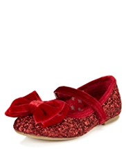 Riptape Bow Glitter Shoes