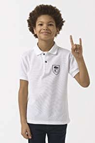 Boy's Short Sleeve 80th Anniversary Pique Polo