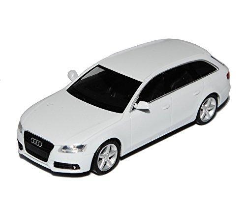 Audi-A4-B8-Avant-Kombi-Weiss-2007-2015-H0-187-Herpa-Modell-Auto-mit-individiuellem-Wunschkennzeichen