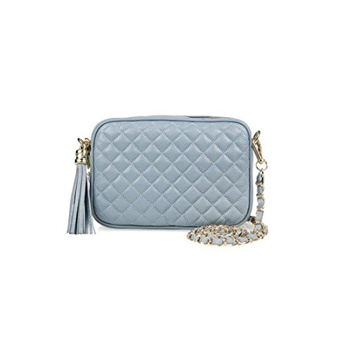 dearwyw-women-genuine-cow-leather-mini-waffle-quilted-square-cross-body-shoulder-bag-blue