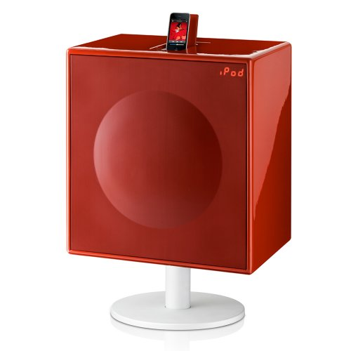 GenevaSound All-in-One Stereo for CD, iPod, Radio, iPhone, Line-in (Xtra Large-Red)