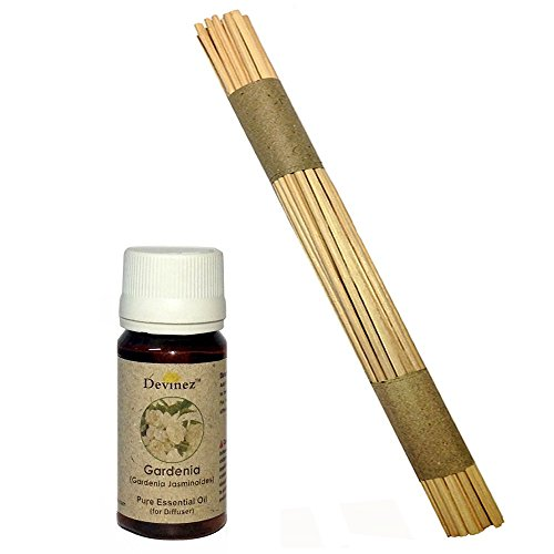 Devinez Premium Reed Sticks/ Refill Pack For Reed Diffusers 10 Inches (100 Sticks) With Free 15ml Gardenia Oil...