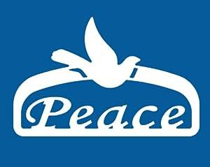 Teak Isle Christmas Outdoor Peace Sign Decoration, Small