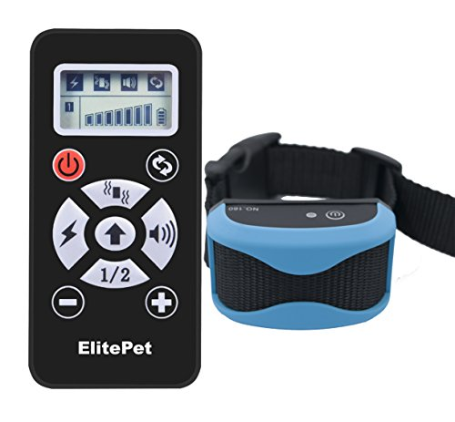 [ElitePet Luxe 800 Yard Rechargeable Waterproof Premium Wireless Dog Training Shock Bark Collar System with Automatic Anti No-Bark Feature and Slimline Remote] (Video Of Dog In Costume)