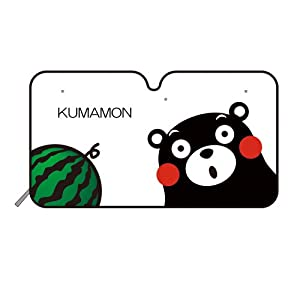 槌屋ヤックくまモン フロントシェイド L TS-K3