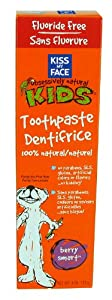 Kiss My Face Kids Berry Smart Fluoride Free Toothpaste, 4 Ounce Tubes (Pack of 6)