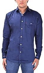 Kriva Enterprise Men's Casual Shirt (Kriva3_S, Blue, S)
