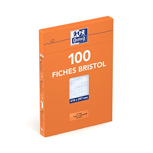 oxford-23722009-fiche-bristol-perforee-a4-100-pages-blanc