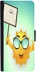 Snoogg Abstract Summer Backgrounddesigner Protective Flip Case Cover For Sams...