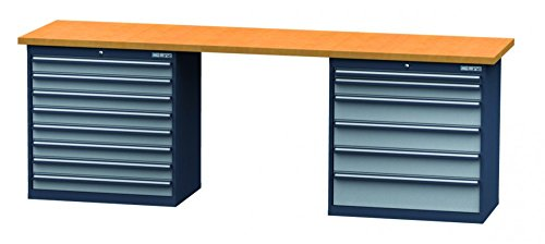 Reihenwerkbank-Breite-2500-mm-Hhe-960-mm-inkl-2-Schubladenblcke-Breite-900-mm-CL99H0914W256