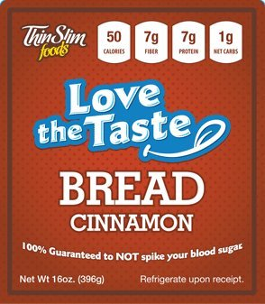 ThinSlim Foods 50 Calorie, 1g Net Carb, Love-The-Taste Low Carb Bread Cinnamon (Thin Slim Bread compare prices)