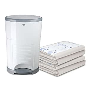 Dekor plus hands free diaper pail with for Dekor plus refills