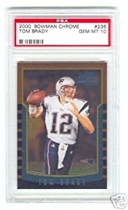 2000 Bowman Chrome #236 New England Patriots Tom Brady Rookie PSA 10 Football Card by Bowman