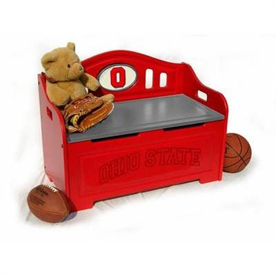Ohio State Buckeyes OSU NCAA Stained Storage Bench at Amazon.com