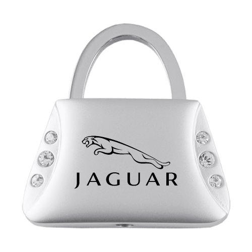 Jaguar Jeweled Purse Keychain