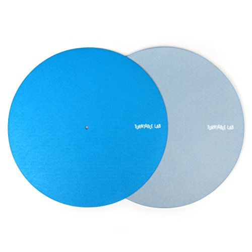 Turntable Lab: Switchmat Reversible Slipmat - Blue / Grey (Pair) (Turntable Pair compare prices)
