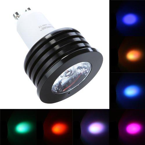 Docooler Isunroad 4W 220Lm Led Rgb Spotlight 2 Million Color Changing Voice Music Control High Power Energy Saving Light Bulb Lamp With Ir Remote 110-240V (Gu10)