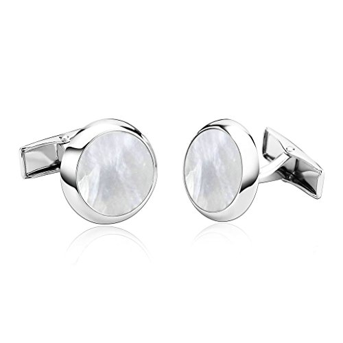 alimab-jewelry-mens-cuff-links-high-quality-round-white-stainless-steel-men-cufflinks
