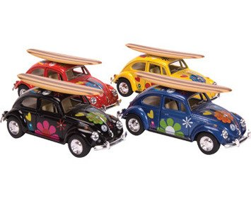 Die-Cast 1967 Beetle with Surfboard (Sold Individually - Colors Vary) - 1