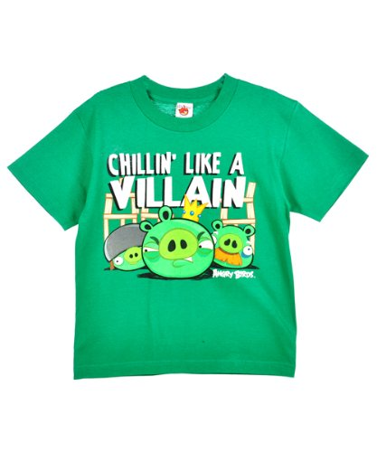 "Angry Birds ""Chillin' Like a Villain"" T-Shirt (Sizes 8 – 20)"