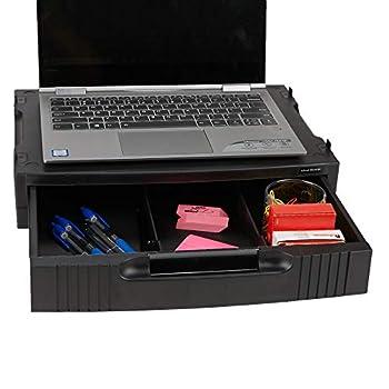 Mind Reader Monitor Stand Riser with Drawer Storage for Computer, Laptop, Desk, iMac, Black