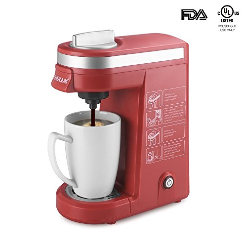 CHULUX Single Serve K-cup Coffee Maker, Red (Red K Cup Coffee Maker compare prices)