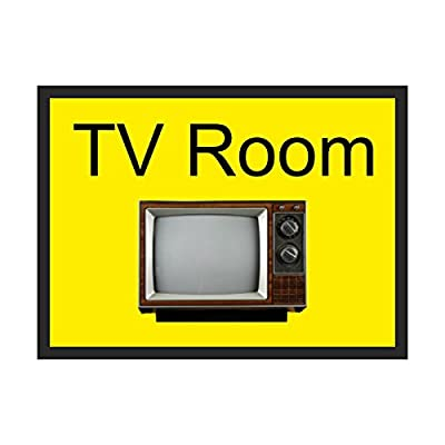TV Room Dementia sign Self Adhesive 300mm x 200mm