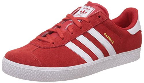 adidas OriginalsGazelle 2 - Scarpe da Ginnastica Basse Unisex - Bambini , Rosso (Rot (Lush Red S16-St/Ftwr White/Ftwr White)), 38