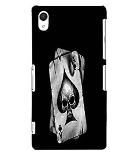 SONY XPERIA Z2 SKULL CARD Back Cover by PRINTSWAG