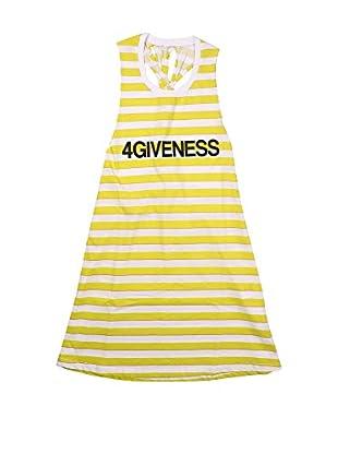 4giveness Vestido (Amarillo / Blanco)